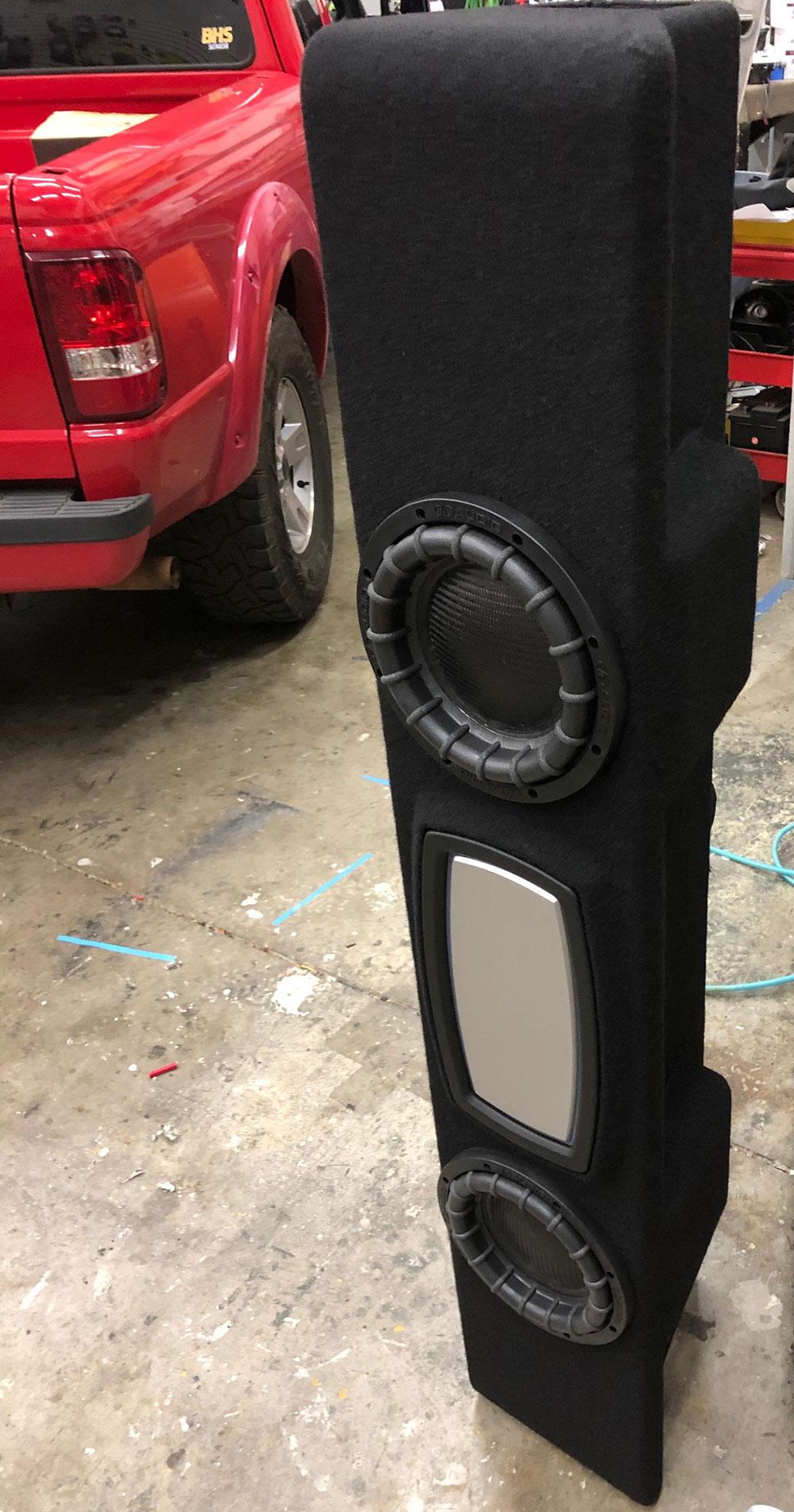 Dealer Spotlight - Speakerbox - Photo of custom Enclosure, Loaded, in Shop