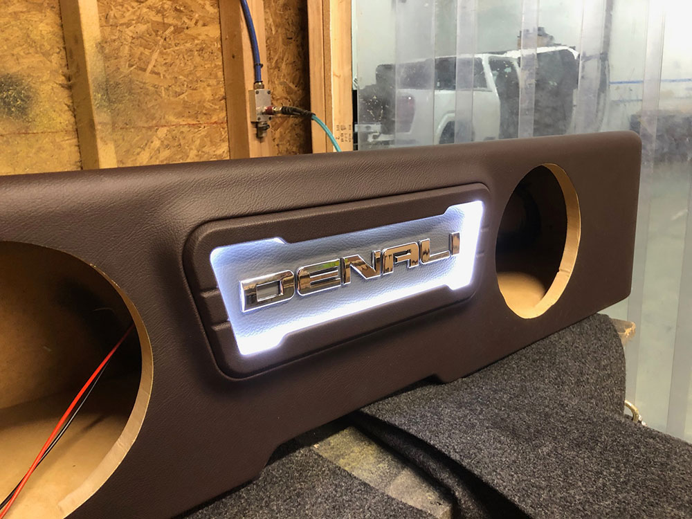 Dealer Spotlight - Speakerbox - Photo of custom Enclosure, Unloaded, in Shop